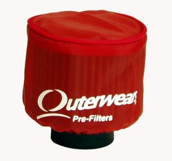 Honda ATC350X Red Pre-Filter for K&N HA-3350 by Outerwears - 20-1076-03